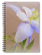 Soft And Lovely Columbine Flower Spiral Notebook