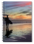 Surfing The Shadows Of Light Spiral Notebook