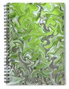 Soft Green And Gray Abstract Spiral Notebook