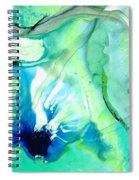 Soft Green Art - Gentle Guidance - Sharon Cummings Spiral Notebook