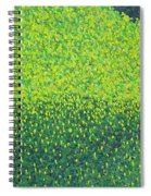 Soft Green Wet Trees Spiral Notebook
