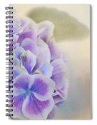 Soft Hydrangeas On Peach Spiral Notebook