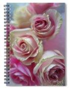Soft Pink Roses Spiral Notebook