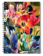 Soft Quilted Tulips Spiral Notebook