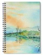 Soft Reflections  Spiral Notebook
