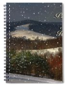 Soft Sifting Christmas Card Spiral Notebook