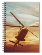 Soft Sunset Landing  Spiral Notebook