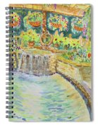 Soft Waterfall In The Pool Of Gibbs Gardens Spiral Notebook
