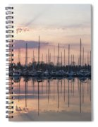 Softly - God Rays And Yachts In Rose Gold And Amethyst  Spiral Notebook