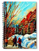 Softly Snowing Spiral Notebook