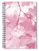 Softness Of Pink Leaves Spiral Notebook