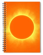 Solar Eclipse In Daffodil Color Spiral Notebook