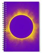 Solar Eclipse In Purple Spiral Notebook