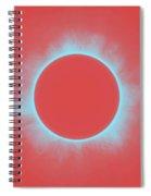 Solar Eclipse In Reddish Pink Spiral Notebook