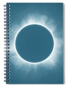 Solar Eclipse In Stormy Sky Color Spiral Notebook