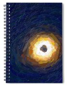 Solar Eclipse In Totality Painting Spiral Notebook