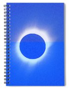 Solar Eclipse Of 2017 Poster 4 Spiral Notebook