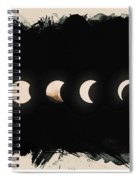 Solar Eclipse Phases Spiral Notebook