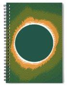 Solar Eclipse Poster 2 Spiral Notebook