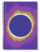 Solar Eclipse Poster 3 Spiral Notebook