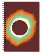 Solar Eclipse Poster 4 A Spiral Notebook
