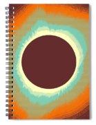 Solar Eclipse Poster 4 Spiral Notebook