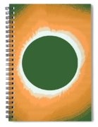 Solar Eclipse Poster 5 Spiral Notebook