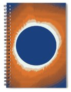 Solar Eclipse Poster 6 Spiral Notebook