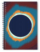 Solar Eclipse Poster Spiral Notebook