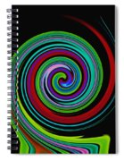 Solar Scroll Spiral Notebook
