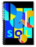 Solar Winter Spiral Notebook