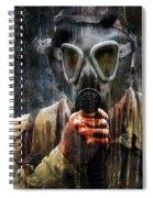 Soldier In World War 2 Gas Mask Spiral Notebook