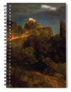 Soldiers Amount Towards A Mountain Fortress Spiral Notebook