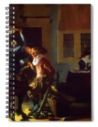 Soldiers Beside A Fireplace 1632 Spiral Notebook