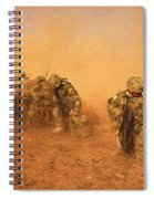 Soldiers In The Dust 4 Spiral Notebook