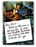 Soldier's Letter Home To Dad -- Ww2 Propaganda Spiral Notebook