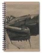 Solid Brass Spiral Notebook