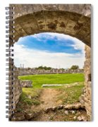 Solin Ancient Arena Old Ruins Spiral Notebook