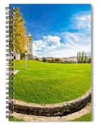 Solin Park And Church Panoramic View Spiral Notebook