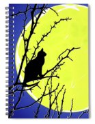 Solitary With Golden Moon Spiral Notebook