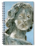 Solitude. A Cemetery Statue Spiral Notebook