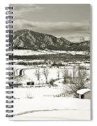 Solitude In Boulder County Spiral Notebook