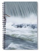 Solitude In Stormy Waters Spiral Notebook