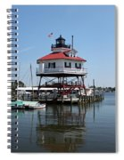 Solomons Island - Drum Point Lighthouse Reflecting Spiral Notebook