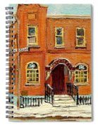 Solomons Temple Montreal Bagg Street Shul Spiral Notebook