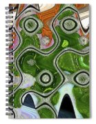 Some Pink And Green Abstract Spiral Notebook