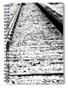 Something About The Railroad Tracks Spiral Notebook