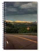 Sometime Life Throws You Curves, Enjoy The Ride Spiral Notebook