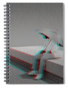 Somewhere It's Raining - Use Red-cyan 3d Glasses Spiral Notebook