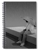 Somewhere Its Raining Spiral Notebook